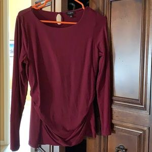 Burgundy long sleeve top by Talbots